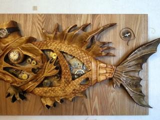 Работа Вячеслава Квитко «Фаршированный рыб», сосна, 60х40 см, 2014