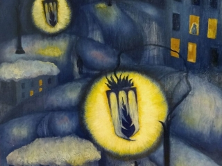 """Работа Натальи Мерзляковой """"Lanterna Harpax"""" холст, масло, 70х50 см, 2011 г."""