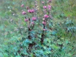"""Работа Любавы Викторовой """"Цветы на лугу"""", 2011, 45х32.5, пастель"""