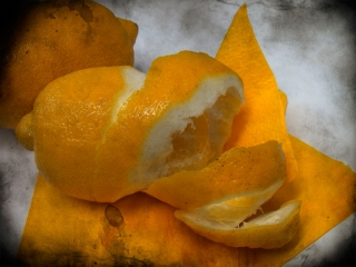 "Работа Елены Колесник ""Лимон"", арт-фото, компьарт, 2012"
