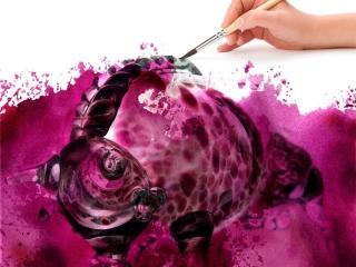 """Работа Елены Колесник """"Фиолетовый бык"""", арт-фото, компьарт, 2013"""