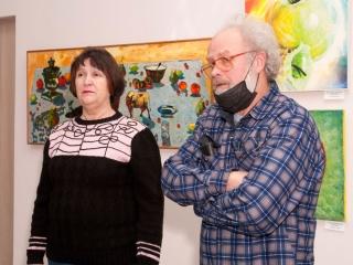 Открытие выставки - Татьяна Казакова и Олег Емельянов