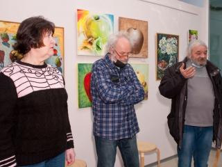 Открытие выставки - Татьяна Казакова, Олег Емельянов, Юлий Колесник