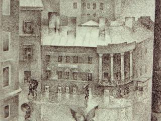 """""""Улица Чайковского"""", 1978. Литография, 30х45 см"""