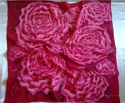 Платок с розами