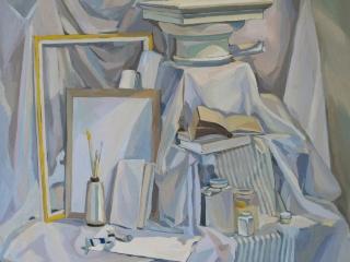 Белый натюрморт, холст, масло, 2010 г, 80х80