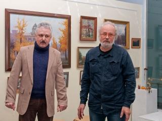 Открытие выставки. Дмитрий Мнацаканьян и Олег Емельянов