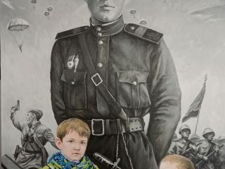 "Александр Ахтямов ""Дед, мы будем помнить...""., 85х135, 2019"