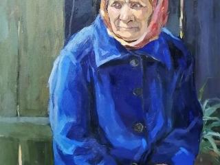 "Мария Гаврилова ""Портрет бабушки"", орг.м., 49х39, 2002 г."