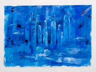 """Работа Марии Китаевой """"Deep blue"""""""