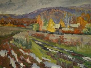 «Поздняя осень в Подгорах», живопись, к., м., 2013, 35х50