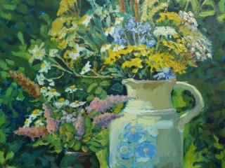 «Полевые цветы», живопись, к.,м., 2018, 53х43,5