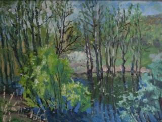«Заволжская весна», живопись, к.,м., 2013, 33х49