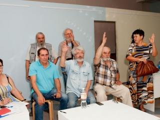 Члены выставкома и оргкомитета выставки