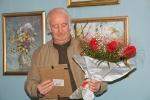 Виктор Иванович Волков на своей персональной выставке в Сызрани (4.10.2010)