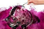 """Фиолетовый бык (из серии \""""Акварель\"""")"""