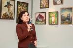 Выставку открывает заведующая художественным отделом Татьяна Мухтаровна Жандарова