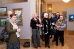 Открытие выставки, вокруг друзья и единомышленики