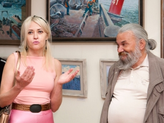 Открытие выставки. Лариса Куликова и Юлий Колесник
