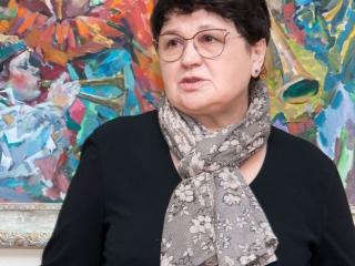 Открытие выставки - автор работ Наталия Филатова.