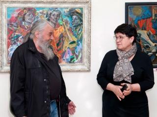 Открытие выставки - Юлий Колесник и Наталия Филатова